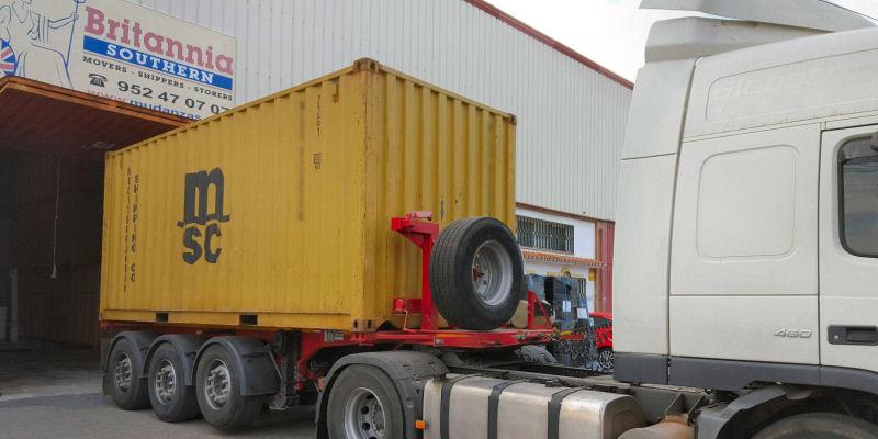 Transporte en contenedores marítimos