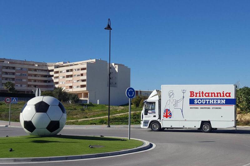 Camión de Mudanzas Britania en Mijas